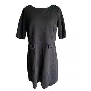 Boden pique short sleeve ponte knit sheath dress